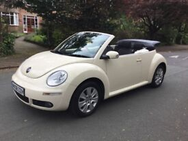 For sale 2008 VW Cream Convertible Beetle