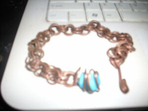 Handmade Copper and Real Tourqoise Anklette!