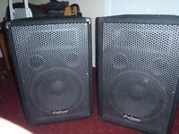 "prosound 12"" pa.speakers good condition"
