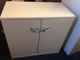 office cupboard white with shelve two doors