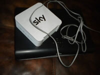 sky hd box & router