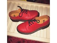 Woman's red Doc Marten shoes size 6 worn once