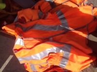 17 sets of hi viz wait coats / vests