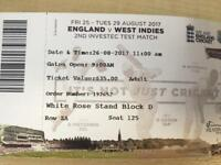 England test match tickets
