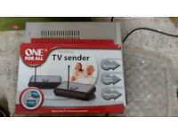 One For All TV Sender- Share your TV channels in different rooms- new/sealed