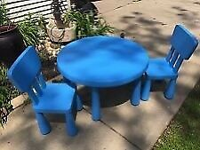 IKEA Children's Mammut round table and chairs