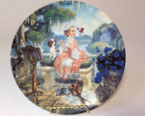 "Collector Plate - Classic Mother Goose - ""Little Miss Muffet"""