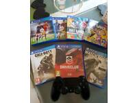 PlayStation 4 with ps4 camera and 7 games