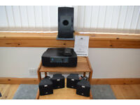 5-1 surround sound speaker system. Dolby Digital (DTS) Works with computers or DVD players.