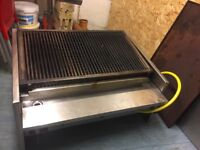 3 burner charcoal gas grill in good condition