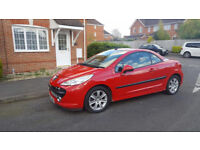 2007 PEUGEOT 207 sport CC finished in Red (Manual), ROOF FULLY OPERATIONAL! HPI CLEAR,