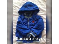 Boys blue zoo coat 2-3 yrs