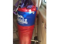 Boxing bag. 4ft. With good quality wall bracket.