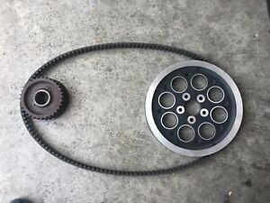 Harley Davidson final drive belt and pulley assembly