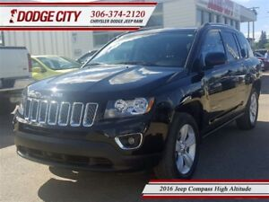 2016 Jeep Compass High Altitude 4x4 **PST PAID**