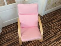 CHILDS IKEA POANG CHAIR WITH PINK COVER COLLECT WHITLEY