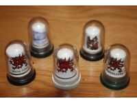 REDUCED PRICE ALL FOR £3 BONE CHINA THIMBLES OF WALES IN INDIVIDUAL DISPLAY CASES