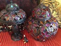 Moroccan style light and two matching lamps