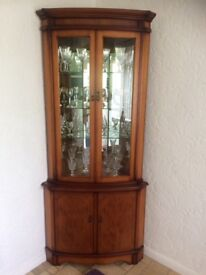 Rosewood Corner Cabinet - Excellent Condition