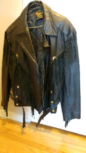 Leather Riding jacket unisex