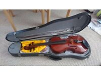 Full size viola never played brand new with bow, rosin, case & tuner
