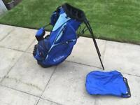 Golf stand bag with rain hood. Cost £70. Immaculate Condition. Callaway Titleist Ping