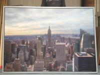 """New York Picture 55"""" x 39"""" Free To Collector"""