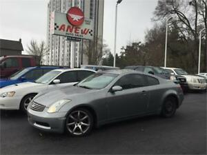 2006 INFINITI G35 COUPE LOW KM ORIGINAL 162000KM