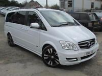 A Stunning Mercedes-Benz VIANO in White with Black wheels