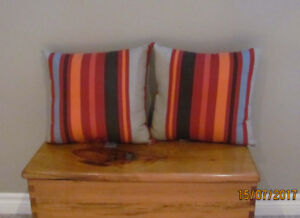 CUSHIONS  Two Indoor or Outdoor Cushions.  Mint condition.