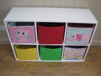 6 CANVAS TOY BOX STORAGE BOXES