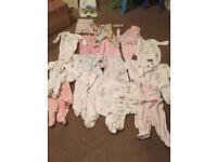 19 x 0-3 Months Baby Grow Bundle (Mothercare/ Next/ John Lewis/ F&F)