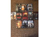 DVD Bundle- 11 DVDs- Action
