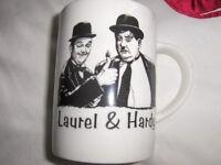 LAUREL AND HARDY COLLECTABLE BONE CHINA MUG