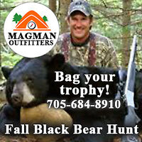 Spring and Fall Muskoka Black Bear Hunt