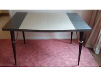 Fabulous rare and original 1960s/70s kitchen table and four chairs.