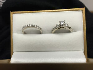 Wedding Engagement Ring Set Diamonds MUST SELL