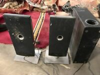 HOME SYSTEM COMPLETE WITH SPEAKERS. RADIO & 4 CD £55