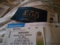 Tom Jones Ticket : 5th August : Glasgow Bandstand