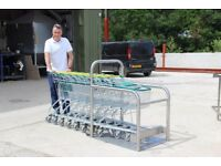 8 x Compact Shopping Trollies & Trolley Dock Station