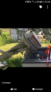 Boat motor and trailer want gone asap