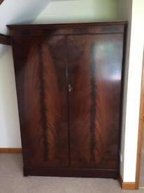 Art Deco mahogany wardrobe
