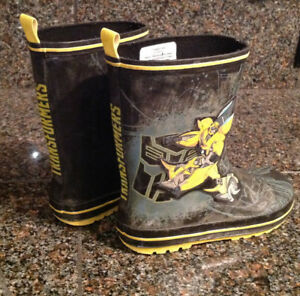 Transformer bumblebee rubber boots boys size 13 kids