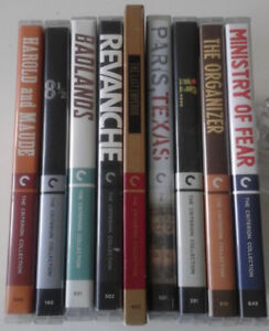 9 Criterion Collection blu-rays. BADLANDS, 8 1/2, IF...