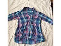Size 20 blue checkered shirt