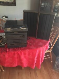 Record Player and Speakers **AS IS**