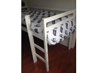 White Cabin bed without mattress