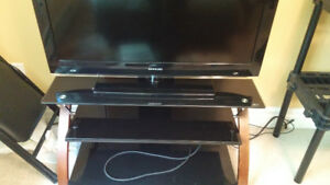 TV + stand for sale - 250