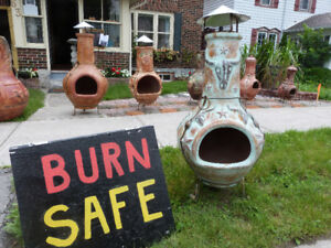 CHIMNEA ENJOY SAFE BURN ANYWHERE ANY WEATHER ANY TIME MEXICAN