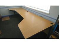 2 x L-shape corner office large desk workstation